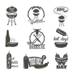 Hot Dog Vintage Typography Labels and Design vector image vector image