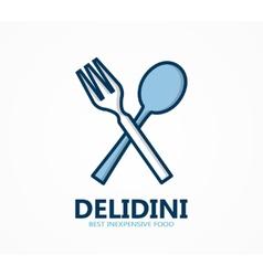 logo for restaurant or cafe vector image