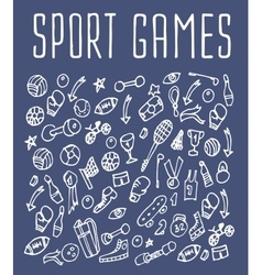 Sport hand drawn seamless logo vector image vector image