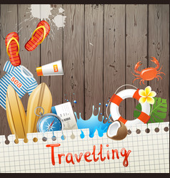 travelling background vector image vector image