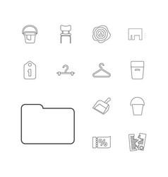 13 empty icons vector