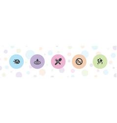5 shiny icons vector image