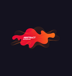 abstract background with dynamic waves and vector image