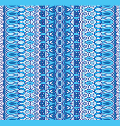 abstract geometric blue striped carpet border vector image
