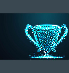 abstract trophy champion abstract 3d polygonal vector image
