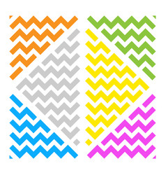 Abstract wave ornament color triangles white bg vector