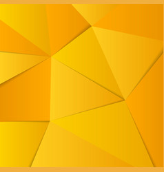 Abstract yellow gold background lowpoly vector