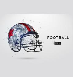 American football helmet in black vector