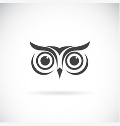 An owl face design on white background bird logo vector