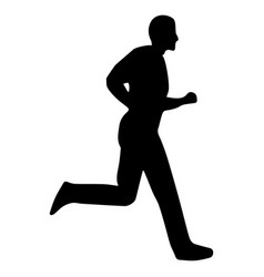 athlete running silhouette vector image