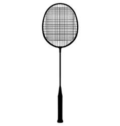 Badminton racquet vector