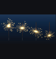 bengal lights celebration birthday glow elements vector image