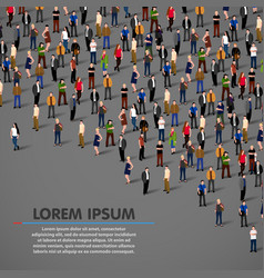 Big people crowd on dark background vector