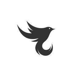 bird flat logo template design vector image