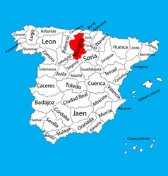 Burgos map spain province administrative map vector