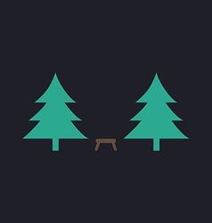 Camping computer symbol vector image