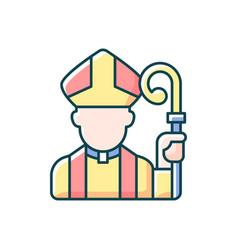 Clergy rgb color icon vector
