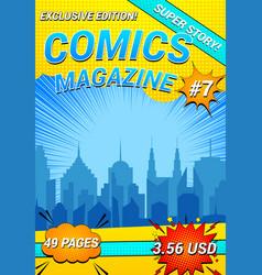 Colorful comics magazine vector