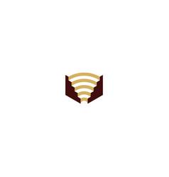 Colosseum building logo vector