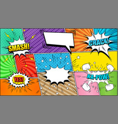 Comic page background vector