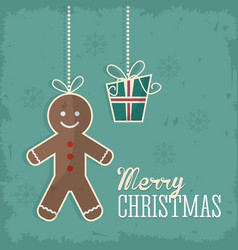 Coockie merry christmas design vector
