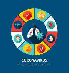 Coronavirus concept icons vector