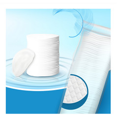 Cotton pads ultra soft accessory banner vector