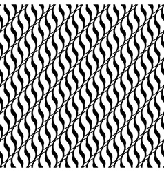 Design seamless monochrome interlaced pattern vector image