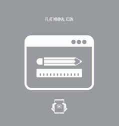 designer app flat icon vector image