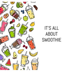 doodle smoothie background vector image