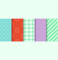 Easter seamless patterns collection in pastel vector
