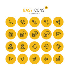 easy icons 27c contacts vector image