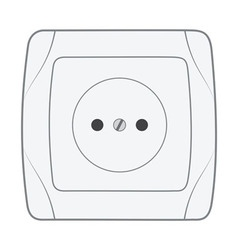 Electric household socket vector