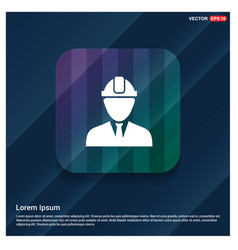 engineer user icon vector image