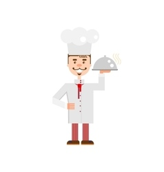 Flat Chef character vector image