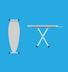 folded and unfolded ironing board icon vector image