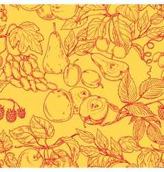 Fruit outline pattern vector