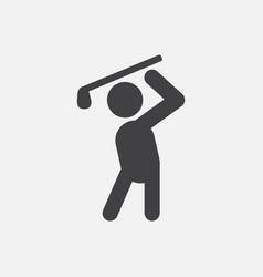 Golf sport golfer man vector