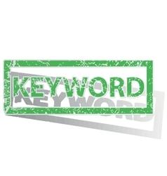 Green outlined KEYWORD stamp vector image