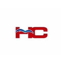 HC Logo Graphic Branding Letter Element vector image