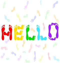 Hello vector image