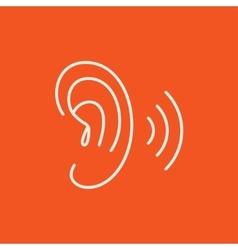 Human ear line icon vector image