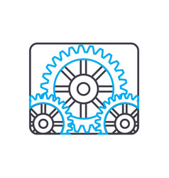 industrial production linear icon concept vector image