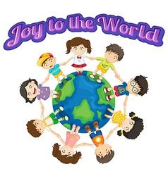 Joy to world vector