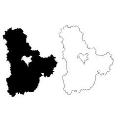 Kiev oblast map vector