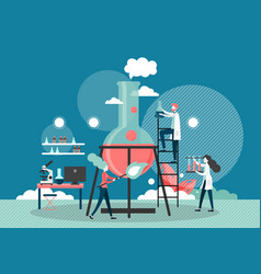 Laboratory medicine flat style design vector
