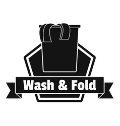 Laundry clothes wash logo simple style vector