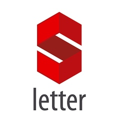 Logo S letter in a red rhombus vector