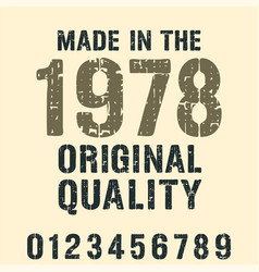 Made in various years typography for t-shirt vector
