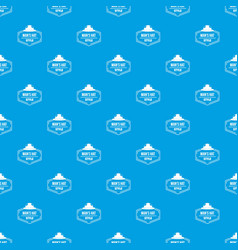 man hat pattern seamless blue vector image